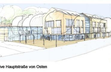 Studie Neubau Bezirksamt / Neubau Volksbank Dagersheim_2