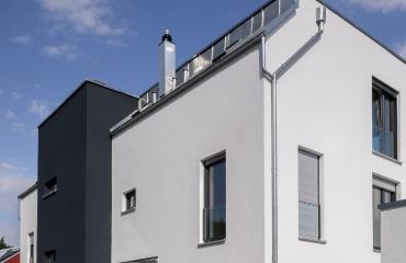 Neubau von zwei Mehrfamilienhäusern mit Tiefgarage und Autoaufzug in Stuttgart